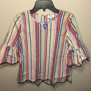 Crown & Ivy girl's striped shirt